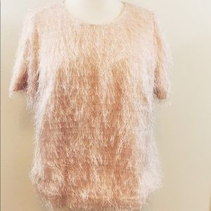 Calvin Klein Pale Pink Special Occaison Top 1X
